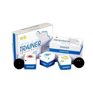 Squashové míčky MERCO Trainer - 1ks - bílá tečka