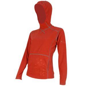 Mikina s kapucí SENSOR Smartfleece dám. červená vel. M