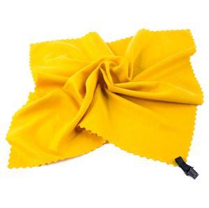 Spokey NEMO Rychleschnoucí ručník 40 x 40 cm, žlutý s karabinou